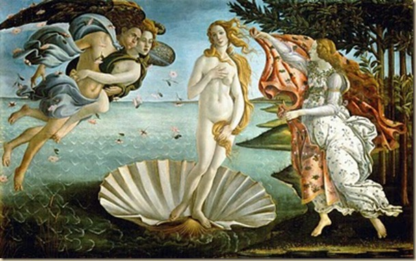 O Nascimento de Vénus, Botticelli, 1485