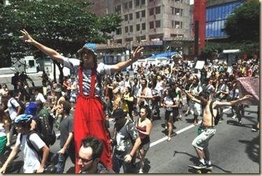 protesto artistas