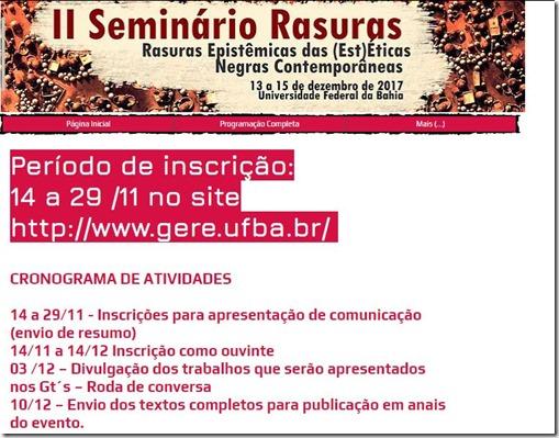 seminário rasuras inscrição